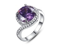3PC/order,2014 Titanium steel Screw Crystal women Ring Engagement Wedding Rings