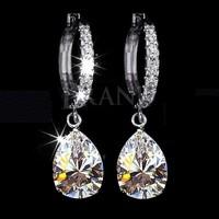 2014 Fashion Love e451 artificial diamond zircon earrings crystal austria water drop earring accessories women wedding earrings