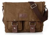 NEW Hot cheap vintage fashion leisure canvas leather messenger bag for men,men messenger bags,shoulder bags for men