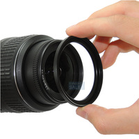 50PCS Free Shipping Metal 43mm-52mm 43-52 mm 43 to 52 Step Up Lens Filter Ring Adapter Black