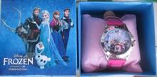 free shipping 1pcs frozen box watch kids fashion quartz cartoon Jelly Candy led with box Cute Lovely Girl woman lady(China (Mainland))