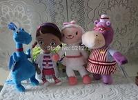 Free shipping 4pcs/lot 30cm=11.8inch Doc McStuffins plush soft toys doll set,Doc Mcstuffins stuffed doll set,best gift for kids