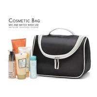 2014 Beautician Women Cosmetic Bag Fashion Black Handbags Storage Bag Makeup Bag For Women FW003
