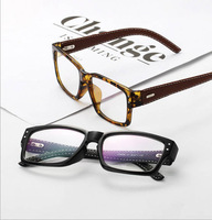 4S229 Leather Wrap Legs Glasses Frame  2014 NEW Unisex fashion Square optical frames Imitation Can be equipped with glasses
