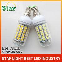 free shipping  Led Lamp E14 220V 1550LM led lighting Warm White/White E1415W 69LEDs Bulb LED corn Lamp