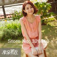 2014 New Korean Style lace Chiffon Clothing Set
