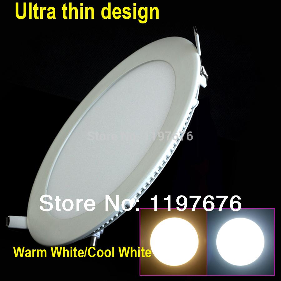 25 Watt Round LED Ceiling Light Recessed Kitchen Bathroom Lamp AC85-265V LED Down light Warm White/Cool Wh
