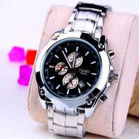 Fashion Stainless steel Strap Quartz Men luminous watch  ,Men Dress Wrist watch with Calendar Date , 30M Waterproof  167863