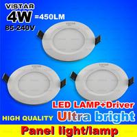 4W 5W LED panel lights LED panel lamp 110V-240V SMD 2835 warm white cold white free shipping