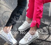 2014 New Fashion Slit Bows Stretch Baby Girls Skinnny Pants Children Pencil Pants Leggings  5pcs/1lot