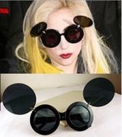 Freeshipping  Lady gaga New Vintage Absurda Sunglasses Tops for Women,Gold metal Evoke amplifier Glasses