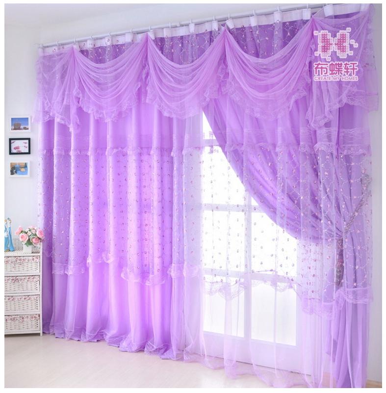 Modele Cuisine Avec Verriere :  haut grade salon chambre ombre violet rideau brodé de sequins