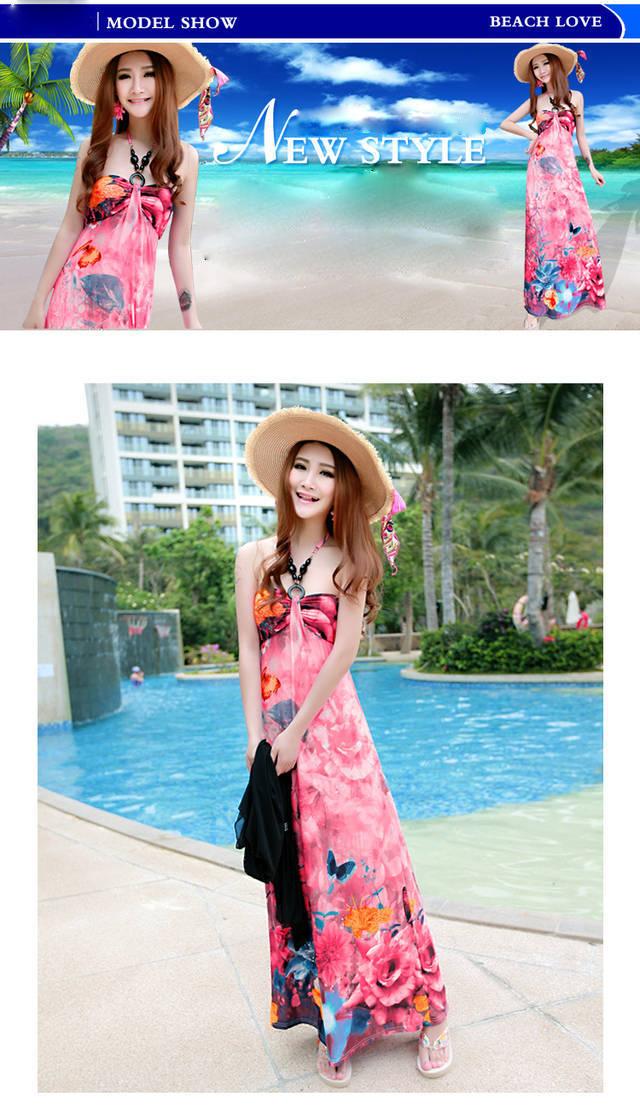 swimwear summer dress Sexy Halter Bra street boat neck dress, Bohemian crochet beach dress swimwear cover ups(China (Mainland))