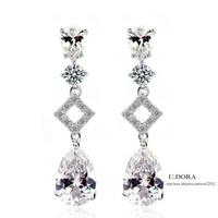 2014 Fashion AAA Cubic Zirconia Bridal Earrings
