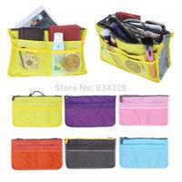 Travel Insert Handbag Organiser Dual inner Bag in Bag Makeup Organizer Purse Tidy Bag - Drop Shipping