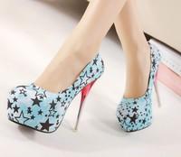 Big EUR size Fashion personality nightclub sexy high heel wedding shoes for women 16 CM summer platform woman sandals  pumps