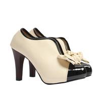 Hotsale 2014 ol dress shoe , leather beige high heel women pump sandals for work