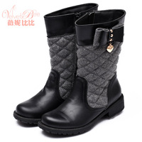 children's footwear brand shoes for British princess style girl winter Martin boots leather uppers Family Pack, mother, daughter
