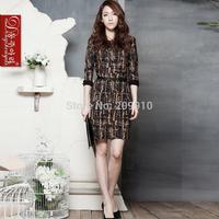 Half sleeve formal work wear Dresses Autumn and Winter Women dresses plus size S-6xl Office Business Dresses
