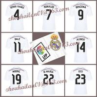 2014-15 new season Real Madrid home soccer jersey sweatshirt top Thai version  A + + + BALE # 11 ISCO #23 JESE #20 Ronaldo # 7