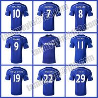 Latest 2014-15 Premier League Blue Legion Thailand quality Chelsea Home blue  soccer jersey HAZARD TORRES david luiz  WILLIAN
