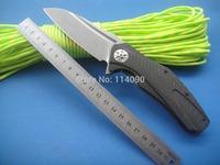 Free shipping  ZT0777 ZT777 High Quality D2 steel blade Carbon Fiber handle gift kinife folding knife