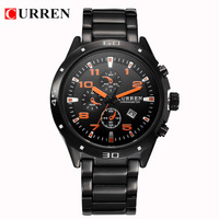 6 Colors CURREN 8021 Branded Men's Watches Male's watch with Calendar Stainless Steel Business watches Men1pcs/lot BW-SB-849