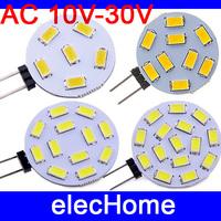 High Quality G4 1W 3W 4W 5W AC 12V 24V LED Bulb 15 12 9 6 5730 5630 SMD 10V-30V AC G4 Car Boat RV Cabinet LED Light Lamp Bulbs
