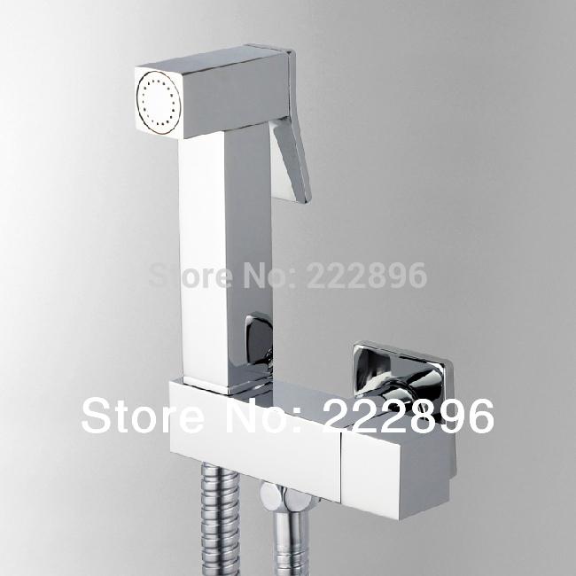 Copper chrome hand held Bidet spray Shower set Shower bidet sprayer lanos toilet bidet spray gun torneira ducha(China (Mainland))