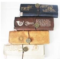 Pen curtain pencil case vintage leather roll type wallet pen mh13-049