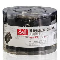 Wholesale Deli liras clip 41mm black binder clips purse on black color Free Shipping (Pack of 24 Pcs)