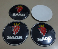 20pcs resin 56.5mm blue SAAB wheel center caps sticker car badges wholesale car stickers