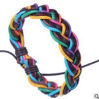 Q3442  Twisted December rope braided leather bracelet hand-woven bracelet personalized bracelet weaving  B3