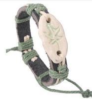 Q3445  Maple pottery retro style bracelet jewelry Ethnic Chinese characteristics lucky leaf  B2