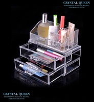 acrylic makeup organizer Cosmetic box jewelry storage box makeup tools transparent base crystal storage box 1155