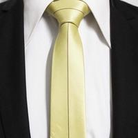 New Trend Mens Popular Striped Yellow Neckties For Men Slim Novelty Neck Ties Gravatas 5CM F5-K-6