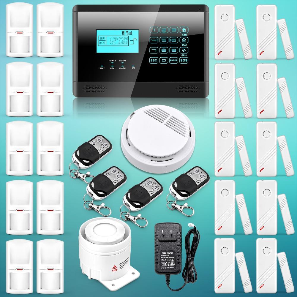 Livraison gratuite! Le dernier nouveau clavier tactile sans fil gsm sms autodial smart home de sécurité maison système d'alarme détecteur de mouvement