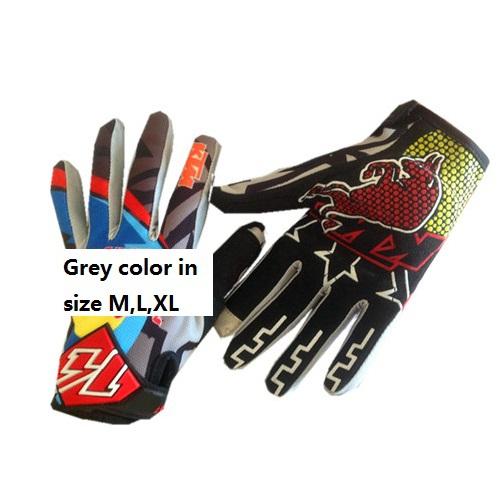 Ktm bicicletta guanti moto guanti motocross atv offroad m colore grigio guanti di spedizione gratuita, l, taglia xl