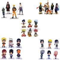HOT Anime Naruto Set 4/5/6 pcs Action Figures PVC Dolls Collection Kakashi Uzumaki Naruto Itachi