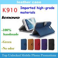 Lenovo K910 vibe z mobile phone Flip protective leather case 100% handmade Microfiber material Free shipping