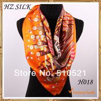 spring 2014 children accessories orange silk scarf designers brand  free shipping