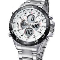 WEIDE Men wristwatch digital led display quartz Military Watches men luxury brand relogio masculino full stainless steel watch