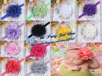 New Infant Toddler Baby Headbands Chiffon Shabby Lace Flower Headbands Kids Hair Accessories 30pcs/lot