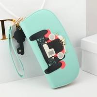 2014 wallet female owl stereo cutout print zipper women's long design wallet