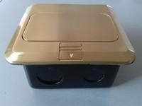floor socket box / 6 port floor socket / golden floor socket