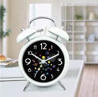 Creative Metal Silent Alarm Clock Colorful Cube Belling Alarm Clocks Black And White Table Desktop Alarm Clocks J2083