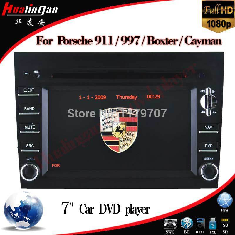 2 din car DVD GPS for Porsche 911 997 Boxte Cayman gps radio navigation video bluetooth RDS DVBT USB autoradio(China (Mainland))