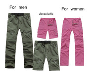 Camping Pants Hunting Trousers Hiking Pant Split Zip Off Shorts Breathable Quick Dry  Anti-UV For Outdoor Sports For Men  Women