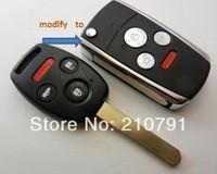 Folding Car Remote Flip Key Shell Case Keyless Fob Cover For HONDA Accord Civic CR-V Pilot 3 4 Buttons