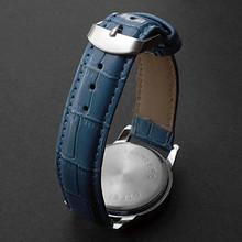 Free Shipping Unisex Round Case PU Band Quartz Analog Wrist Watch Assorted Colors 2014 New